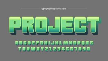 nuances vertes typographie de dessin animé métallique audacieux