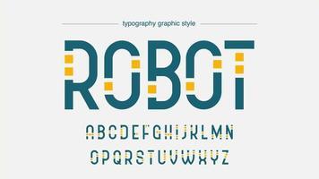 conception de typographie de technologie de robot futuriste vecteur