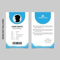 conception de modèle de carte d'identité d'employé bleu minimal