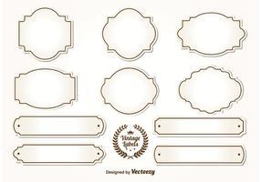 Étiquettes Vintage Blank vecteur