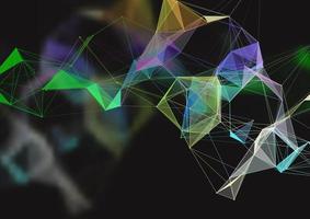 conception abstraite de plexus avec des lignes de connexion