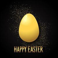 fond de Pâques avec oeuf d'or