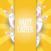 fond de Pâques avec des lapins mignons vecteur