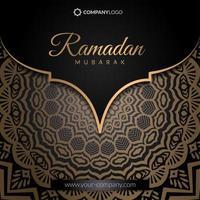 bannière carrée ramadan vecteur