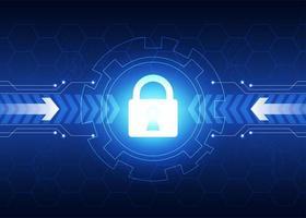 fond de technologie de cybersécurité vecteur