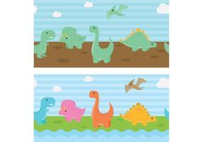 Fond de vecteur de dinosaures