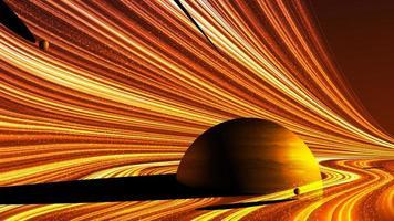 champ de gravité puissant abstrait vecteur