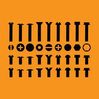 Vis écrous et boulons icônes vectorielles vecteur