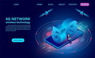 Technologie sans fil réseau 5g vecteur