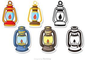 Pack de vecteurs de lampe à gaz vecteur