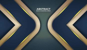 fond abstrait avec angle d'or vecteur