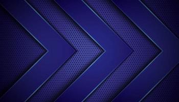 fond bleu foncé avec des couches de flèches vecteur
