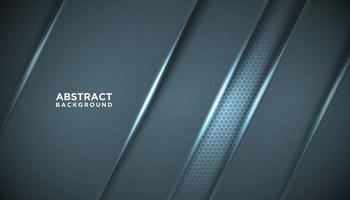 fond de technologie diagonale métallique bleu vecteur