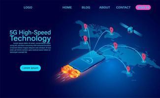 technologie mondiale à grande vitesse 5g