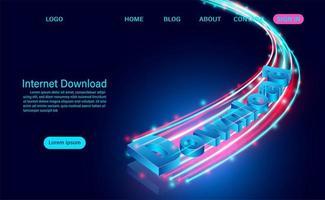 concept de téléchargement Internet vecteur
