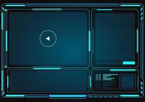 interface hud avec lecteur vidéo vecteur