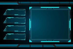 future interface hud avec plusieurs fenêtres vecteur