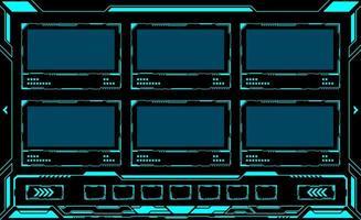 interface de fenêtre multiple rectangle hud