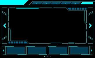 grande interface de hud de fenêtre de rectangle vecteur