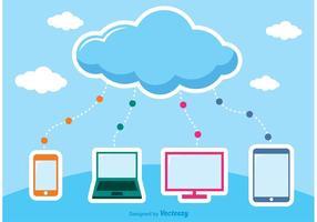 Vecteurs informatiques en nuage vecteur