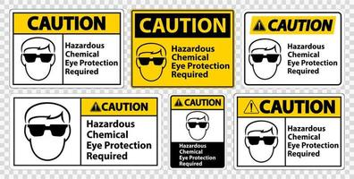 ensemble de panneaux de protection oculaire requis vecteur