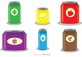 Vecteurs de modèles de soda Can