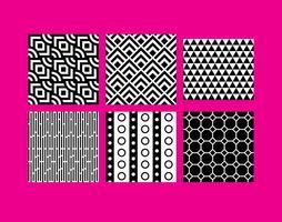Vecteurs de motifs B & W simples vecteur