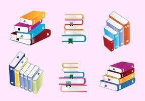 Vecteurs de pile de livres colorés