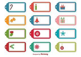 Étiquettes vectorielles de Noël