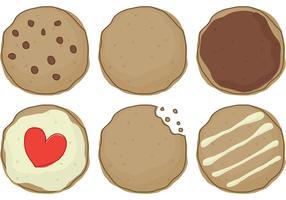Vecteurs de cookies vecteur