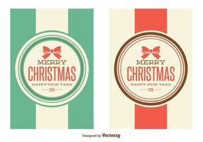 Cartes de Noël Retro Style vecteur