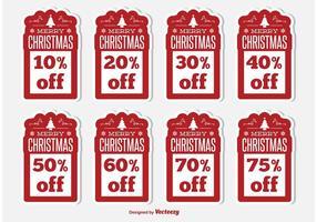 Étiquettes de réduction de Noël vecteur