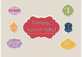 Étiquettes libres de vecteurs différents