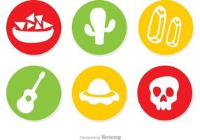 Vecteurs d'icônes mexicaines Pack 1