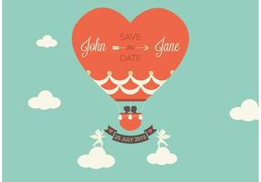 Free Vector Save The Date Ballon à air chaud