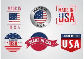 Fabriqué en vecteurs américains