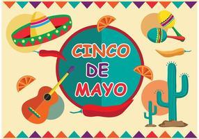 Vecteur du festival Cinco de Mayo