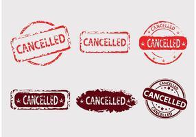 Badges vectoriels annulés