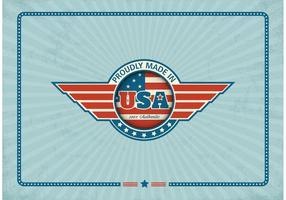 Étiquette vectorielle gratuite faite aux Etats-Unis vecteur