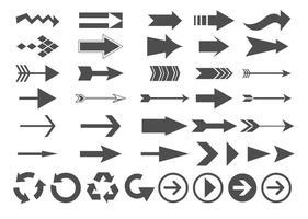 Ensemble de flèches vectorielles vecteur
