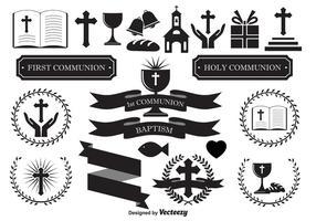 Éléments de conception religieuse vecteur