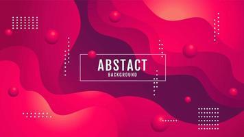 conception ondulée abstraite dégradé rose et violet