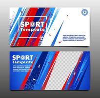 ensemble de cartes de visite de mise en page sport vecteur