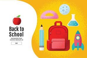 affiche de la bannière jaune de la rentrée scolaire