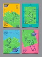 modèle de flyer de football football brillant