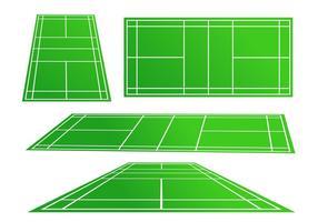 Vecteurs de cour de badminton vecteur