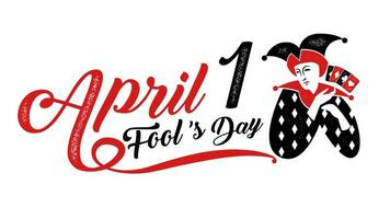 typographie du jour du poisson d'avril vecteur