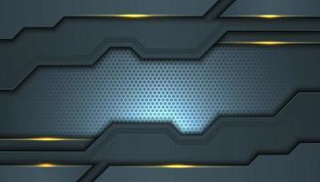 fond abstrait gris avec des couches géométriques inégales vecteur