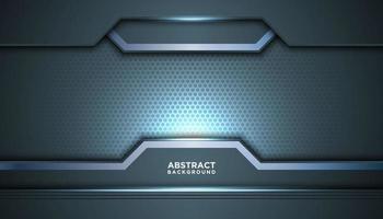 fond de maille hexagone bleu gris abstrait vecteur