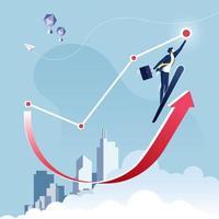 atteindre le concept d'entreprise cible vecteur